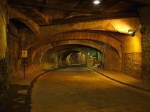 地下隧道在瓜纳华托州墨西哥 免版税库存照片