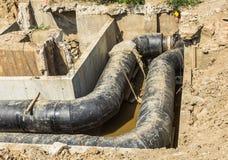 地下水管子 库存图片