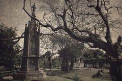 织地不很细的公墓- 免版税图库摄影