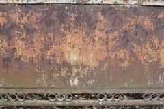 织地不很细金属生锈的篱芭 免版税库存照片