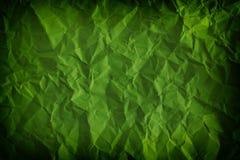 织地不很细,被弄皱的绿色背景 库存图片