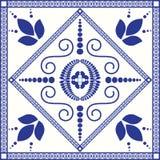 地中海传统蓝色和白色瓦片 库存图片