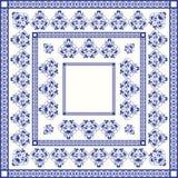 地中海传统蓝色和白色瓦片 免版税库存照片