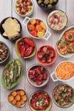 地中海冷的自助餐食物 免版税库存照片