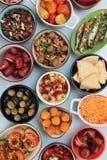 地中海冷的自助餐食物 库存照片