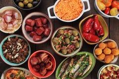 地中海冷的自助餐食物 库存图片