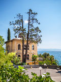 地中海别墅,克罗地亚 免版税库存照片