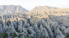 地中海区域的异常的山 免版税库存照片