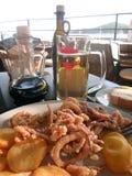 地中海午餐 库存图片