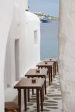 地中海咖啡馆 库存图片