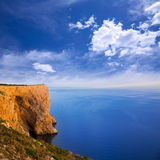 地中海圣安东尼奥海角大角度视图  免版税库存照片