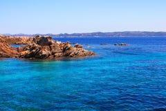 地中海在撒丁岛 免版税库存照片