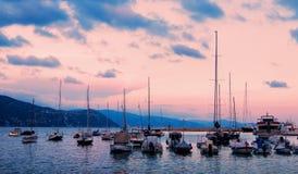 地中海在海运日落 图库摄影