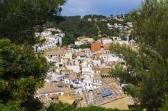 地中海城市的风景 免版税图库摄影
