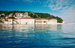 地中海城镇视图 免版税库存照片