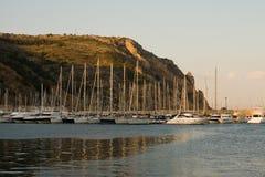 地中海小游艇船坞 免版税库存图片