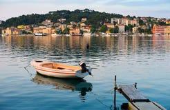 地中海小船的港口 图库摄影