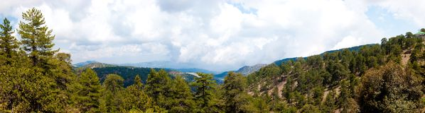 地中海山全景野生生物 免版税库存图片