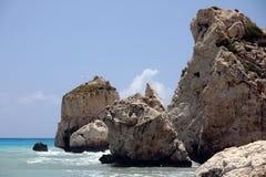 地中海岩石岸 库存图片
