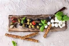 地中海开胃菜板材 图库摄影