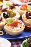 地中海开胃菜的食物 免版税库存图片