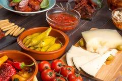 地中海快餐-塔帕纤维布 库存图片