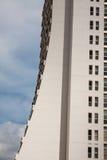 地中海手段Calpe,有盐水湖Las盐沼和旅馆大厦的西班牙 图库摄影