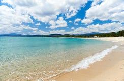 地中海撒丁岛海海滩 库存照片