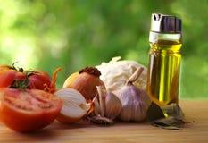 地中海新鲜蔬菜香料,草本 免版税库存图片