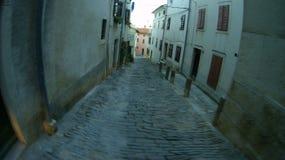 地中海村庄在冬天 免版税库存图片