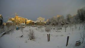 地中海村庄在冬天 免版税图库摄影