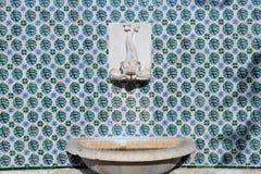 地中海样式喷泉 图库摄影