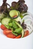 地中海沙拉在餐馆 图库摄影