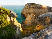 地中海海岛沿海风景日落 库存图片
