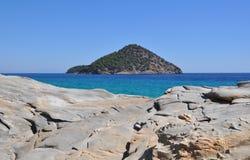 地中海海岛 库存照片