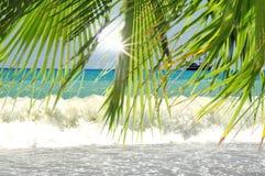 地中海海岸土耳其边海滩 免版税库存图片