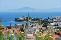 地中海海岸在Datca,土耳其 库存图片