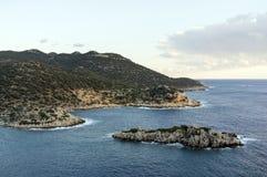 地中海海岸的横向 库存照片