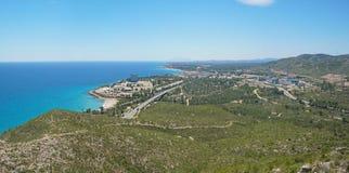地中海海岸的西班牙核电站 免版税库存照片