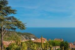 地中海海岸线的风景看法 免版税图库摄影