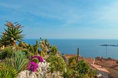 地中海海岸线的风景看法 图库摄影