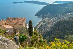地中海海岸线的风景看法 免版税库存图片