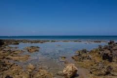 地中海海岸线,普罗塔拉斯,塞浦路斯 库存照片