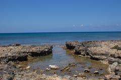 地中海海岸线,普罗塔拉斯,塞浦路斯 库存图片