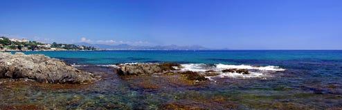 地中海海岸线,从列斯Issambres的圣Aygulf 库存照片
