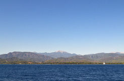 地中海海岸,土耳其费特希耶 库存图片