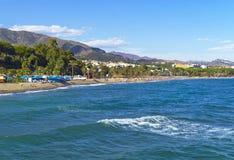 地中海海岸,马尔韦利亚,西班牙 库存图片
