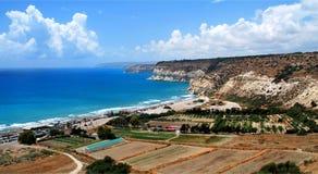 地中海海岸 库存图片