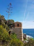 地中海海景美丽的景色  免版税图库摄影