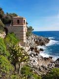 地中海海景美丽的景色  库存照片